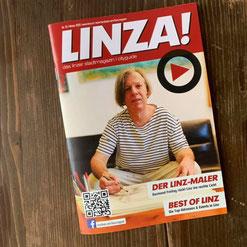 Gazmend Freitag: Auf dem Cover des LINZA