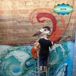 Honsar, Graffiti, Graffitisprüher, iazzu, app, Galerie, Streetart, Barcelona
