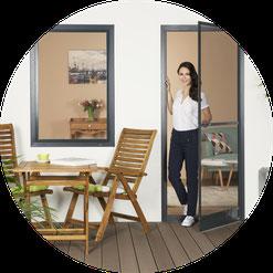 Fliegengittertür für Balkontür und Terrassentür