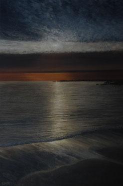 Peinture de JEAN-LOUIS SCOAZEC coucher de soleil