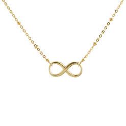 Feine Halskette mit Infinity-Anhänger - vergoldet