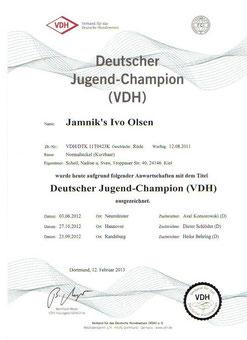 Deutschen Juge´nd Champion VDH13