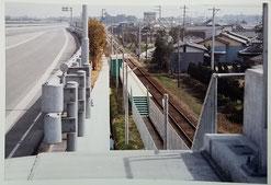 高架になる前の大板井駅(1987年11月開業)