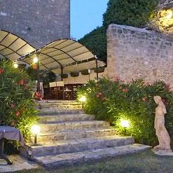Die Terrasse vom Château
