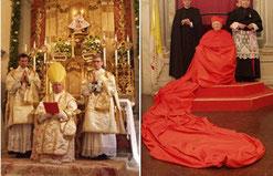 rechts: Antonio Cañizares Llovera nach seiner Kreierung zum Kardinal in der Magna Cappa