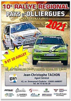 affiche rallye pays d'olliergues