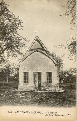 La chapelle sur une carte postale des années 1900