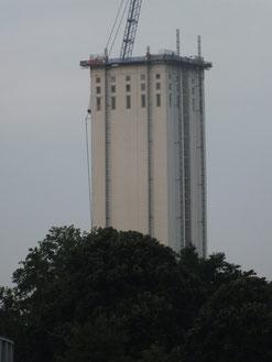 09.08.2013: nur noch ein Turm