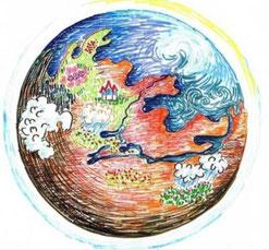 新井さんの描いた火星のイラスト