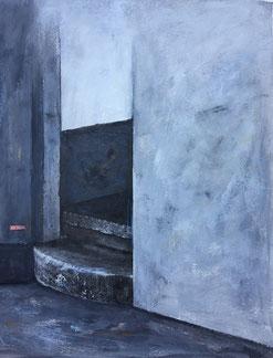 Orte 6, Acryl, Collage auf Papier, 2017
