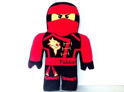 Formkissen mit Namen Ninja Ninjago rot, Feuer- Ninja