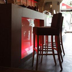 création d'un meuble bar rétroéclairé