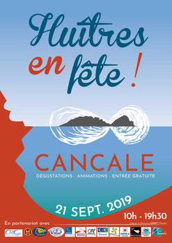 Affiche huîtres en fête Cancale