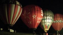 Am Freitag um 22:40 Uhr beginnt das Ballonglühen in Hummeltal. © Copyright by Olaf Timm