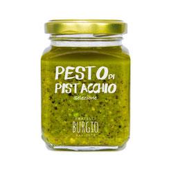 Pesto artesanal de pistachos y aceite extra virgen. Natural y sin conservantes en bote de 110gr (Burgio-Sicilia) 8,50€