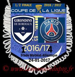 Fanion  Bordeaux-PSG  2016-17