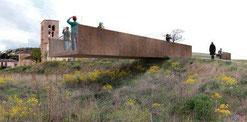 Fotomontaje del mirador planificado en Sepúlveda (De @patrimonionat)