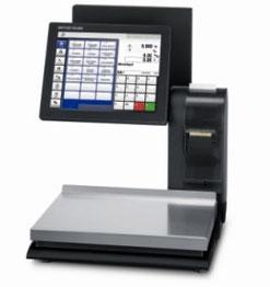 High-End-PC-Waage mit großem Kundenbildschirm