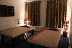 Paar Massage Behandlungszimmer