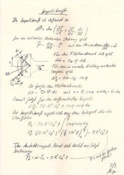 Pulsar, Die Berechnungen von Prof. C. F. Meyer 2