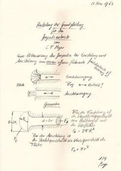 Pulsar, Die Berechnungen von Prof. C. F. Meyer 1
