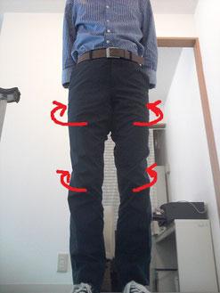 膝の向きと腰痛の関係