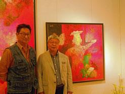 左から小林夢狂 画家佐藤進さん