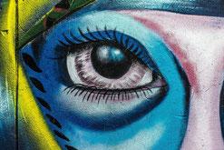 art mural oeil pour faire connaitre son site par e-cime