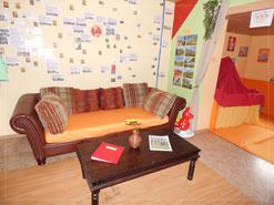 Sitzecke mit Planungswand Happy-family-domizil