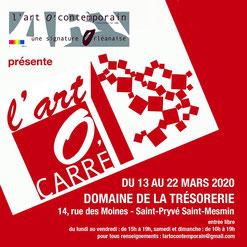 Claude Rossignol - Affiche 3è édition L'art O'contemporain - St-Pryvé St-Mesmin 2020