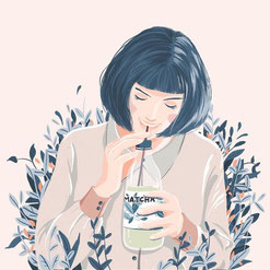 matcha illustration
