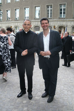 S.E. Bischof Prof. Dr. Franz-Peter Tebartz- van Elst und Ramin Rowghani