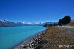Neuseeland - Lake Pukaki - Motorrad - Reise - Mount Cook