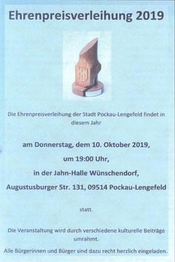 Bild: Wünschendorf Chronik 2019 Preisverleihung