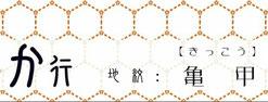 か行【地紋:亀甲】 襲和詞アイコン