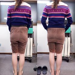 産後骨盤調整の例2(左:施術前、右:施術後)
