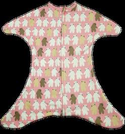 Babyschlafsack mit Eisbären in rosa