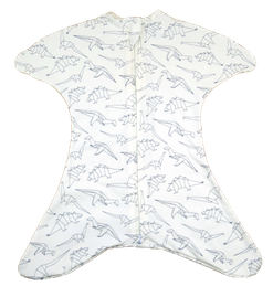 Babyschlafsack in weiß mit Dinos