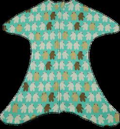 Babyschlafsack mit Eisbären in mint
