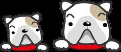 犬の親子のイラスト
