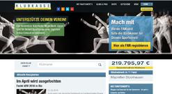 """www.klubkasse.de öffnen und auf """"Registrieren"""" klicken"""