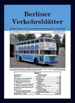 Berliner Verkehrsblätter. Titel September 2017.