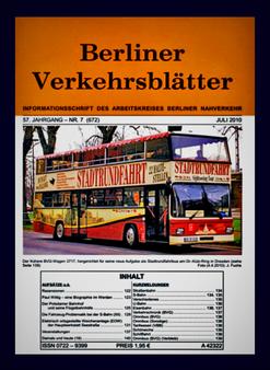 Berliner Verkehrsblätter. Titel Juli 2010.