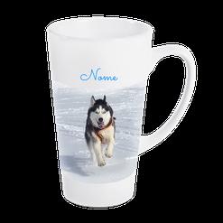 Druckatelier46 - Fototasse Latte - Grosse Tasse für Latte Macchiato, Cappuchino oder Tee