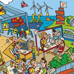 Dirk Van Bun Communicatie & Vormgeving - Illustraties - originele tekening - Bedrijven - ondernemingen - op maat van uw activiteiten - canvas - Lommel