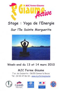 Stage de Yoga de l'Energie sur l'île Ste Marguerite, cliquez pour agrandir