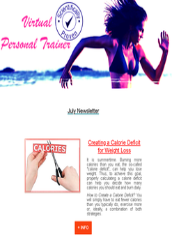 virtual personal trainer newspaper