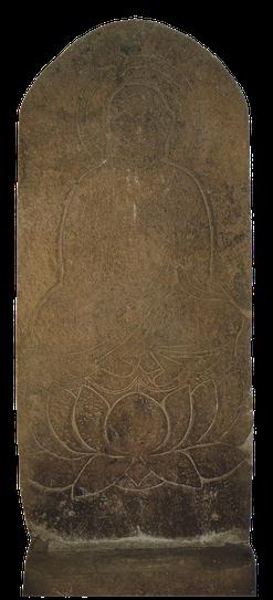 石造線刻地蔵菩薩坐像