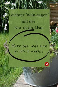 Not-to-do-Liste #entschleunigung #neinsagen #todolist #nottoday