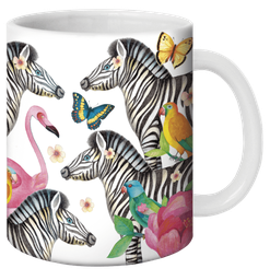 Mug tropical illustré par Mila Gablasova